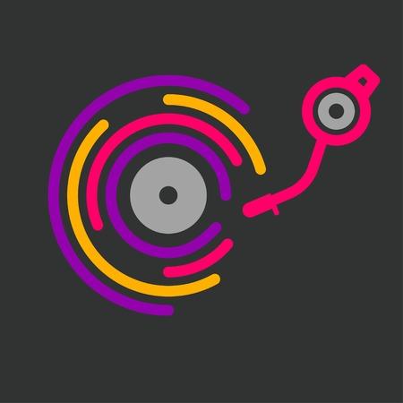 logo de la ligne dj, icône du festival de musique