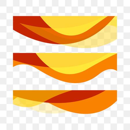 Stellen Sie abstrakten Vektorhintergrund, transparente Wellenlinien für Broschüre, Website, Flyerdesign ein. Wellenförmiger Hintergrund, Welle. Transparente Kurve. Vektor-Illustration