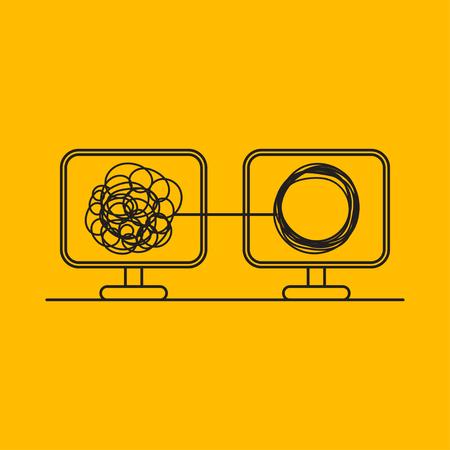 Symbol für Online-Psychotherapie Vektorgrafik