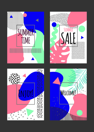 banners for summer Ilustrace