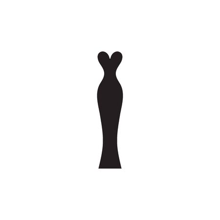 Black classic elegant evening dress icon