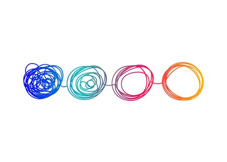 Transform logo, change icon, evolution business development. Vector illustration Logo