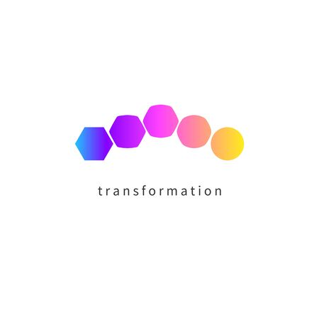 Transform logo, change icon, growth icon, training symbol, evolution, business development education logo, brand business coach evolution sign, personal life coaching