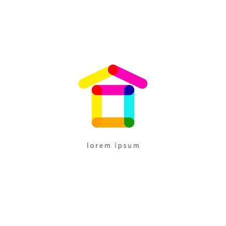 Real estate color modern logo