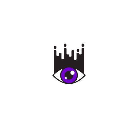 Eyelash extension modern icon