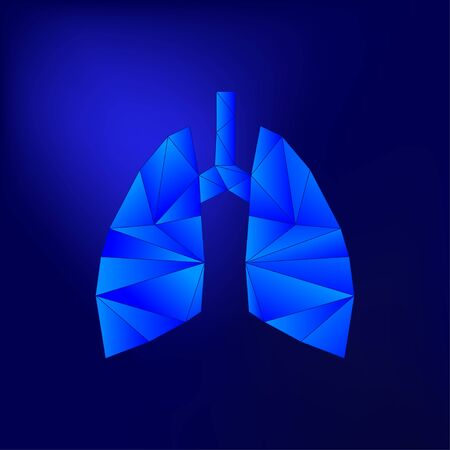blue light vector illustration of lung Stockfoto - 129803965