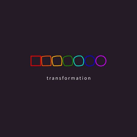 Change, transformation, development icon  イラスト・ベクター素材