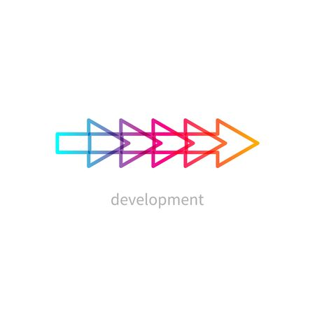gradient development icon Иллюстрация
