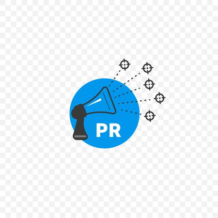 Public relations, pr icon Illustration