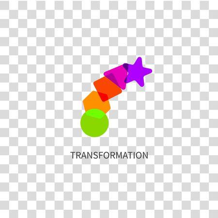 Logo transform, icon change Фото со стока - 129831726