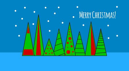Flat composition of merry christmas