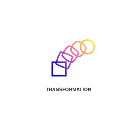 Change icon, transformation, evolution, development Çizim