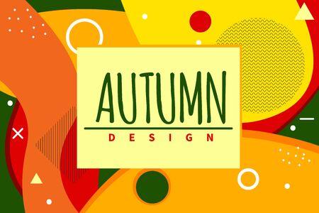 Autumn sale banner Stock Illustratie