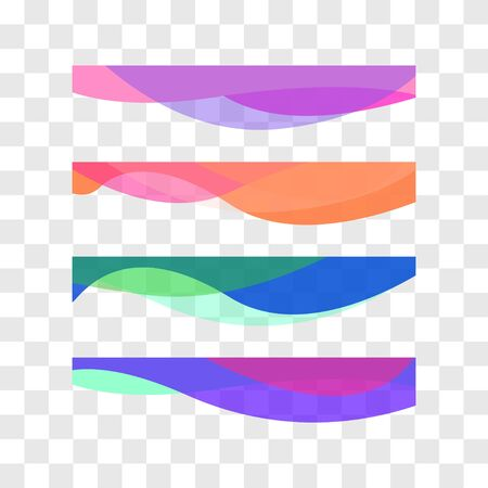 Wavy design element. Decor for brochure, banner, flyer. Fluid, color wave, curve line Vector illustration Illusztráció