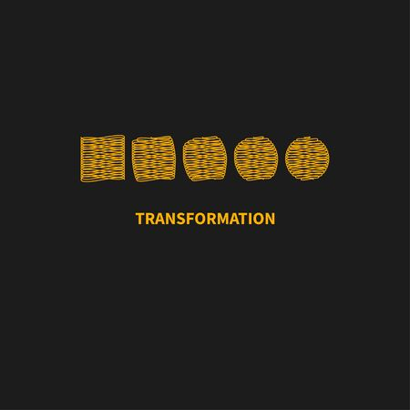 transform, change, growth icon, training symbol, evolution business development education, brand business coach evolution sign personal life coaching