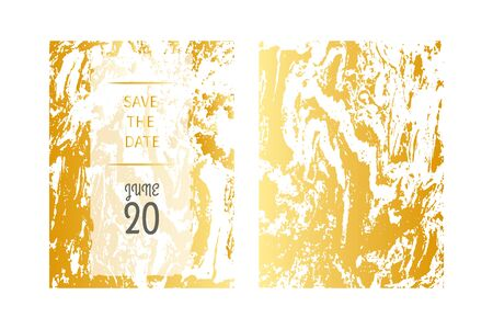 Gold marble, set wedding banners