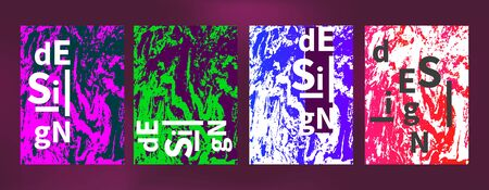 abstract set painter banners