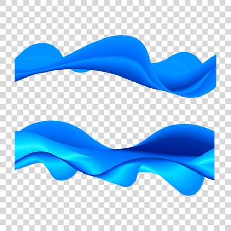 Wavy water line