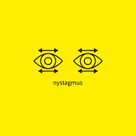 nystagmus, disease eyes neurology Vector icon isolated
