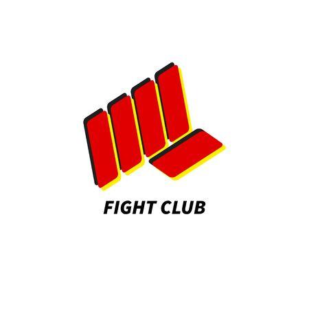 Fight club icon Иллюстрация