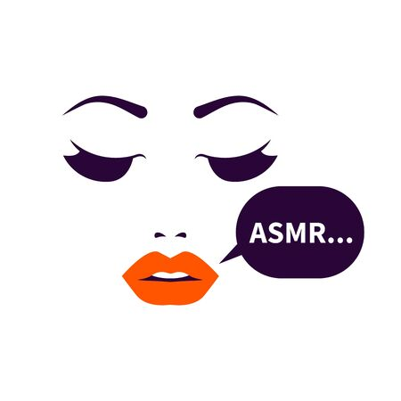 ASMR icon, beautiful lips and whisper Banque d'images - 132342589
