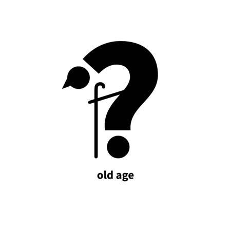 Old man idea, oldster metaphor, concept, flat cartoon walking character, aging, lifetime Vector concept Ilustrace