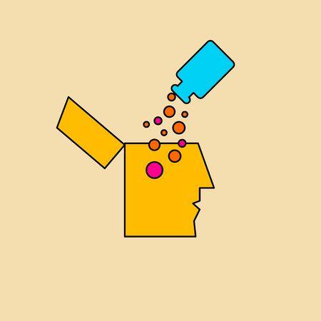 Mental health, pills for depression Banque d'images - 132342110