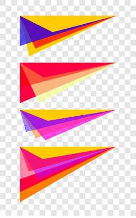 Shapes vector, fluid abstract banner, set decorative color elements for brochure, flyer, business card, poster Banque d'images - 132611865