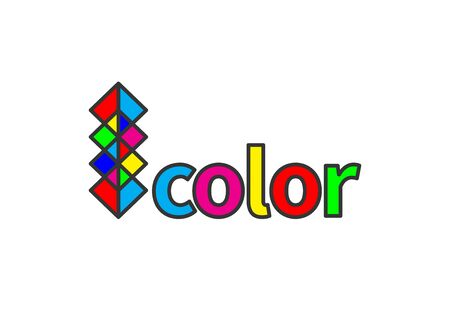 print  , color model symbol, cmyk and rgb, vector print house sign, photo service Banque d'images - 132791475