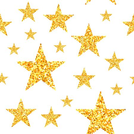 Gold star seamless pattern Standard-Bild - 133363087