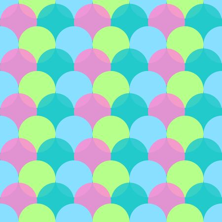 Mermaid seamless pattern Standard-Bild - 133363088