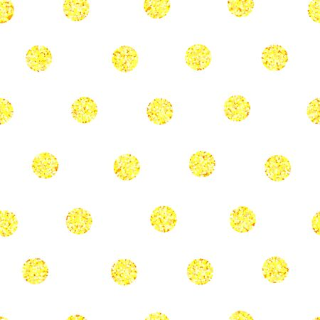 background with golden circles, seamless pattern, vector illustration