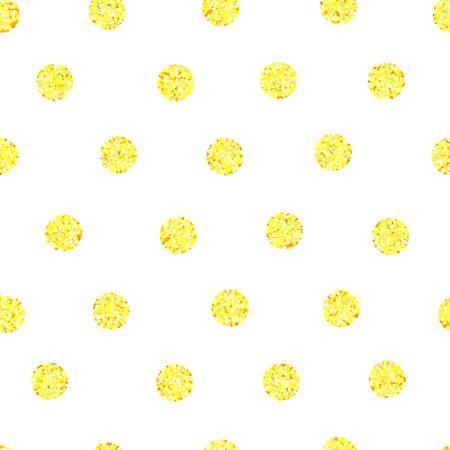 fondo con círculos dorados, patrón sin costuras, ilustración vectorial