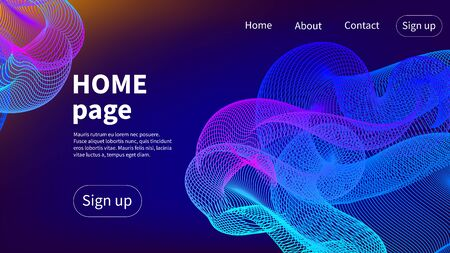 Homepage abstract graphic vector design, gradient backgrouns, blue webdesign