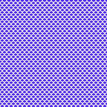 mermaid scale seamless pattern, blue fish scale background, vector texture, color sea print Archivio Fotografico - 134869870