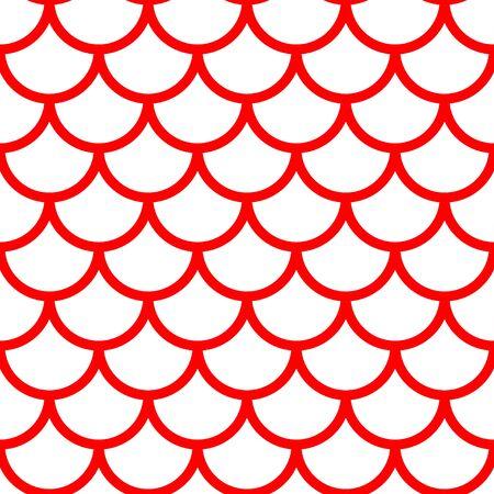 Mermaid pattern, fish scale print, vector see background, summer banner, kids seamless pattern Archivio Fotografico - 134870776