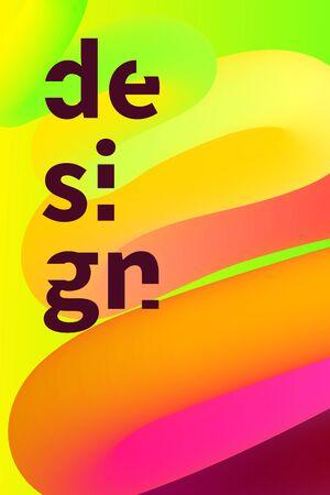 wave poster, electronic music banner, tempate for party flyer, vector blend background, minimal gradient design Banque d'images - 134870967