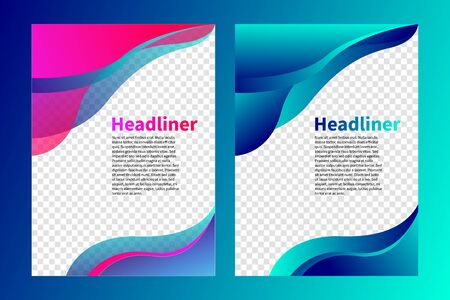 cover of brochure, flyer design, abstract background with waves, wavy elements of design, layout of modern presentation, template of leaflet, vector illustration
