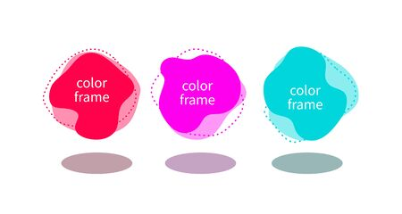 liquid shapes, abstract modern fluid frames, set of color vector banners Illustration