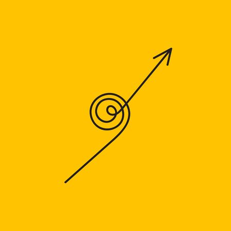 Spiral up arrow
