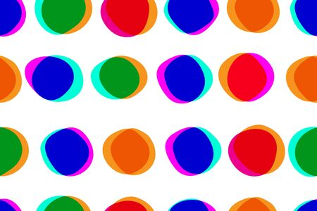 Abstract seamless pattern with multiply circles, color background, colour bright circles, vector illustration