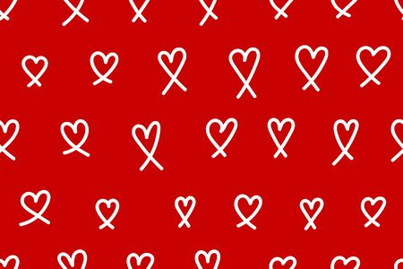 Background with hearts, seamless pattern with hearts, love backdrop, red and white vector illustration