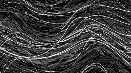 Black and white background with wires, cables, telecommunication pattern, abstract digital monochrome vector print