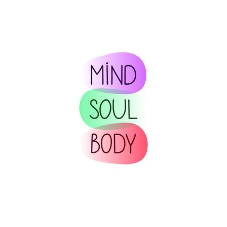 Mind, body and soul balance, zen lifestyle, holistic concept, meditation symbol, vector harmony illustration 向量圖像