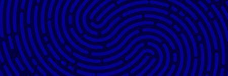 Fingerprint background. Unicum finger print blue pattern. Vector maze. Police line background Stok Fotoğraf - 147679606