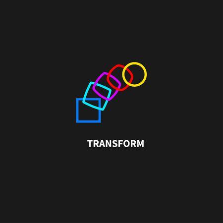 Change icon, transformation, evolution, development, coaching color logo. Vector illustration Logo
