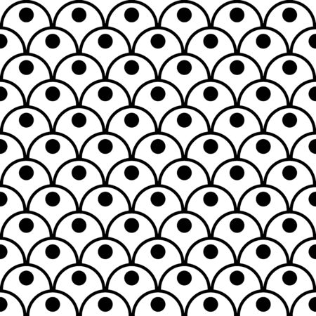 Black and white seamless pattern for textiles, fabric Vettoriali