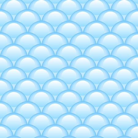 Princess blue seamless pattern for textiles, fabric. Kids girly print with circles. Mermaid tail, fish scales. Vector cute pattern.