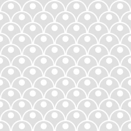 Princess seamless pattern for textiles, fabric. Kids girly print with circles. Mermaid tail, fish scales. Vector cute pattern.