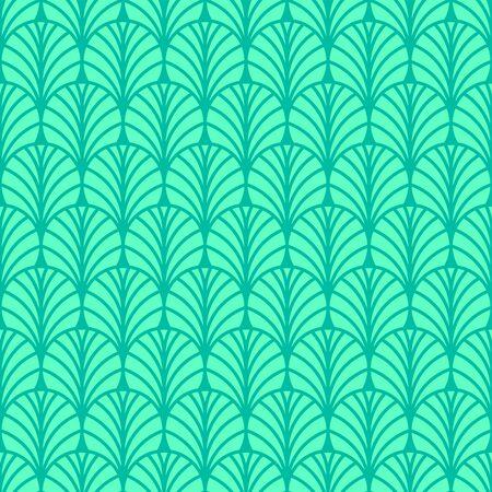 Fan seamless abstract geometric pattern, retro background, chinoiserie pattern